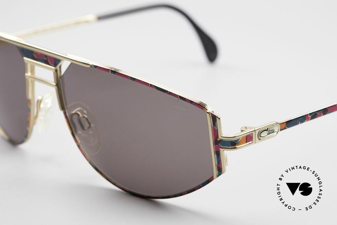 Cazal 964 True 90's No Retro Sunglasses, discreet 'sporty' & striking 'unique' at the same time, Made for Men and Women