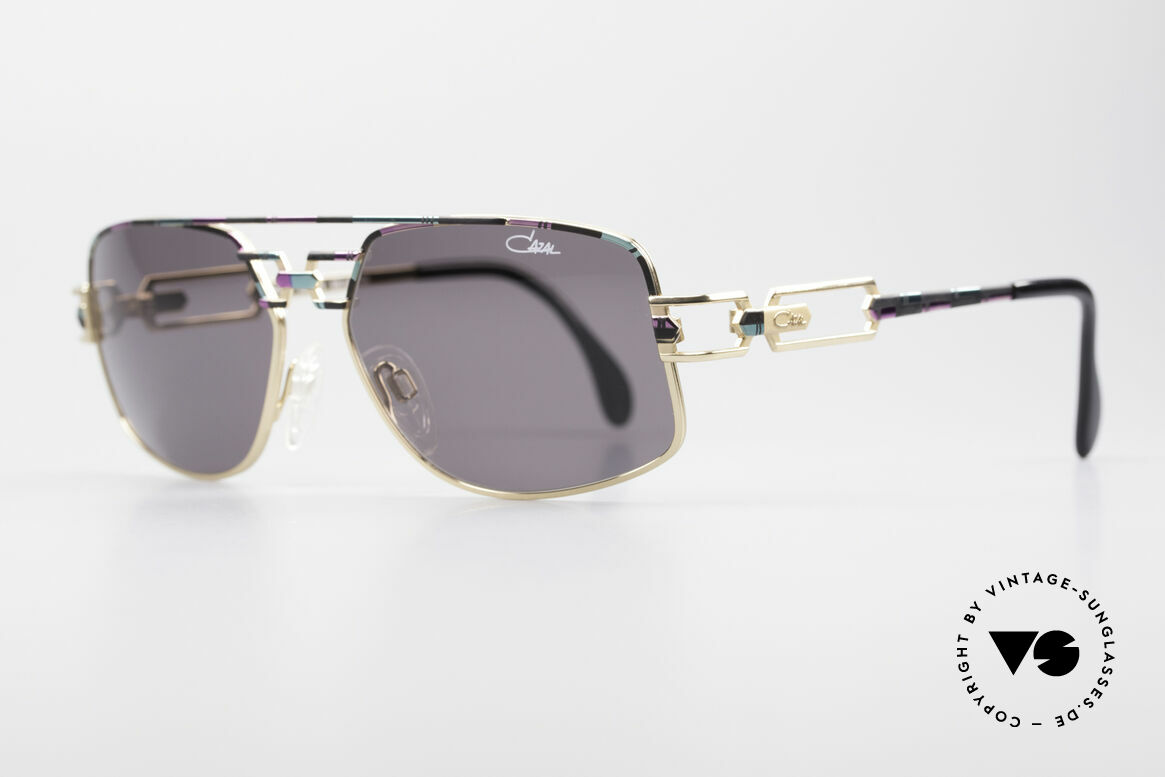 Cazal 972 No Retro Shades True Vintage, extraordinary frame finish: rose-mint-black; imaginative, Made for Men and Women