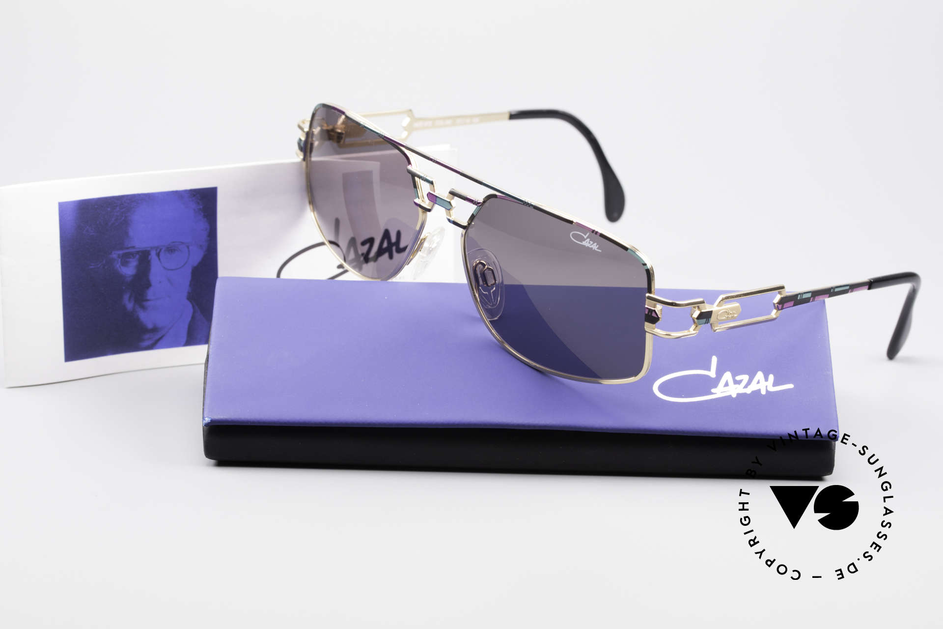 Cazal 972 No Retro Shades True Vintage, orig. gray CAZAL sun lenses with UV PROTECTION mark, Made for Men and Women