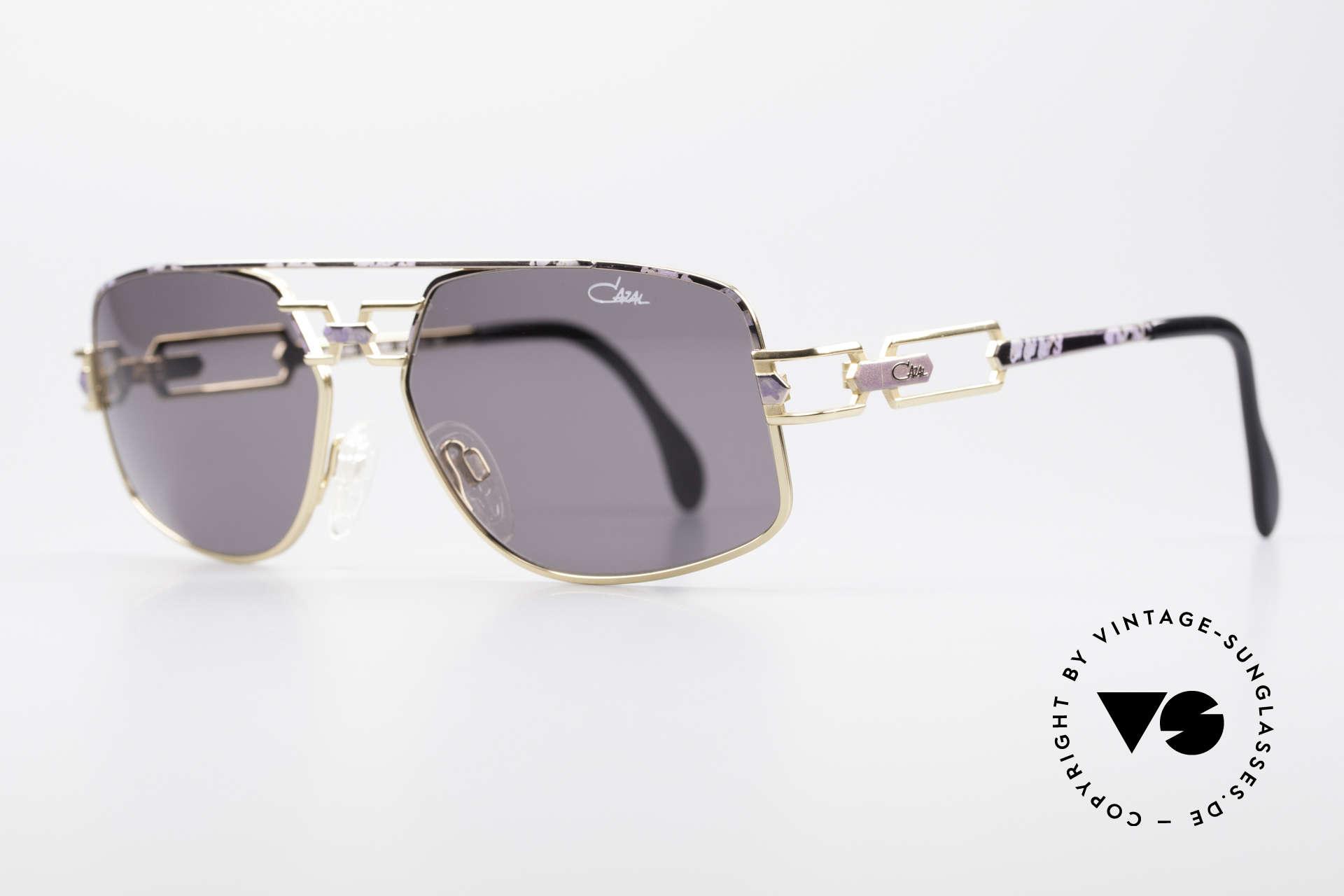 Cazal 972 True Vintage Shades No Retro, extraordinary frame finish: lilac mat / gold; imaginative, Made for Men and Women