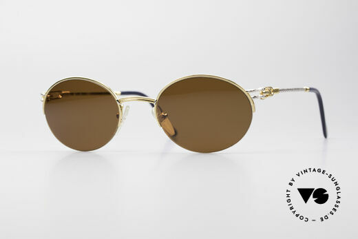 Fred Feroe Oval Luxury Sunglasses Details