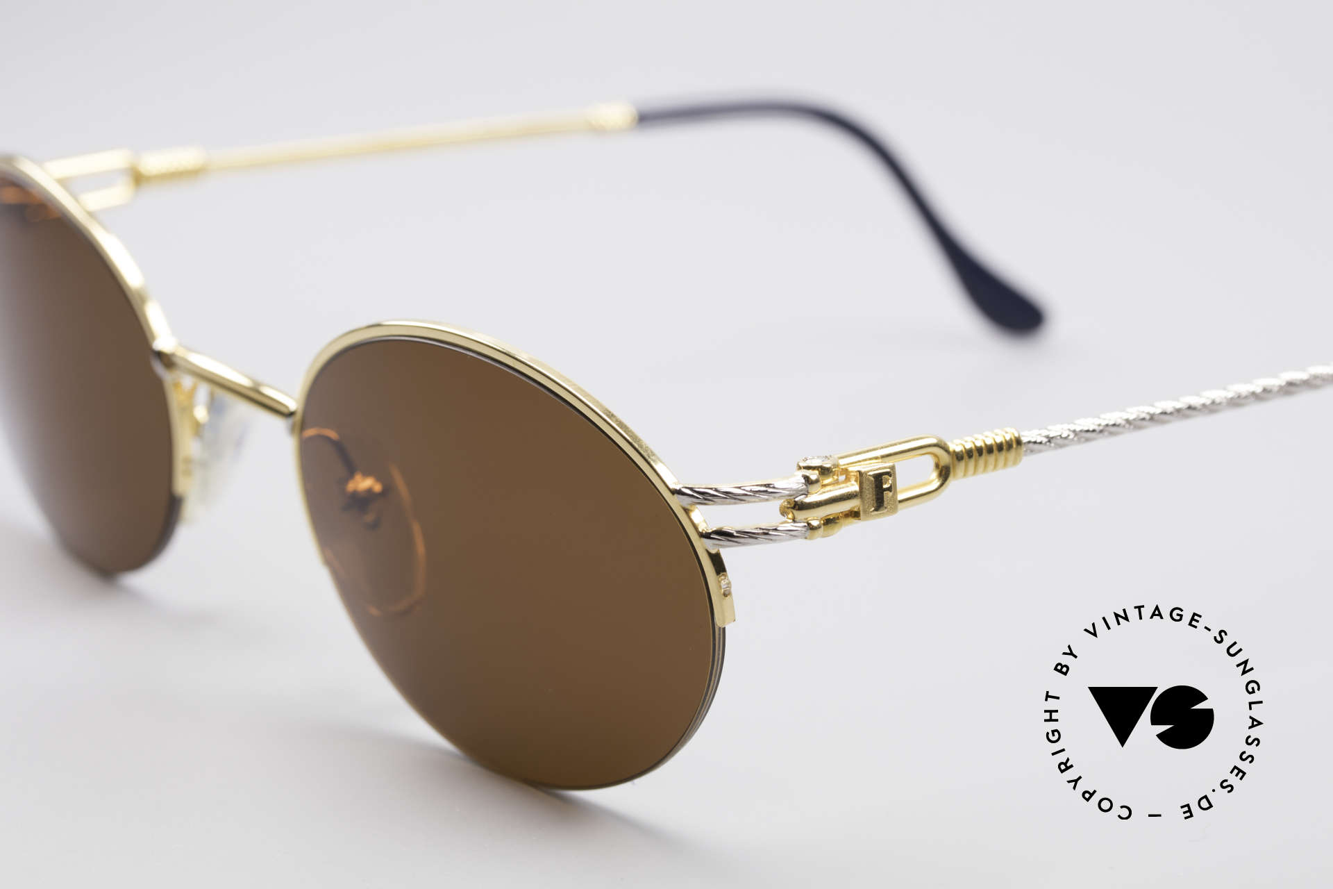 Fred Feroe Oval Luxury Sunglasses, temples are twisted like a hawser; sailor's MUST HAVE, Made for Men and Women