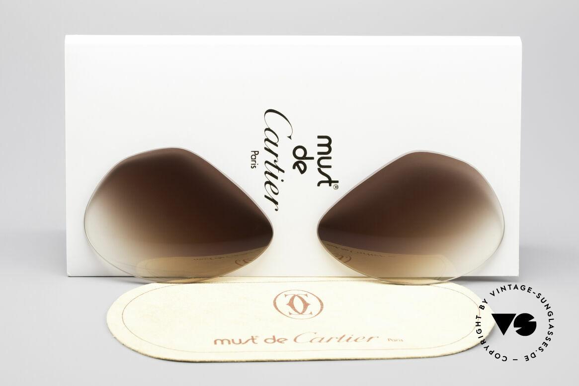 Cartier Vendome Lenses - L Brown Gradient Sun Lenses