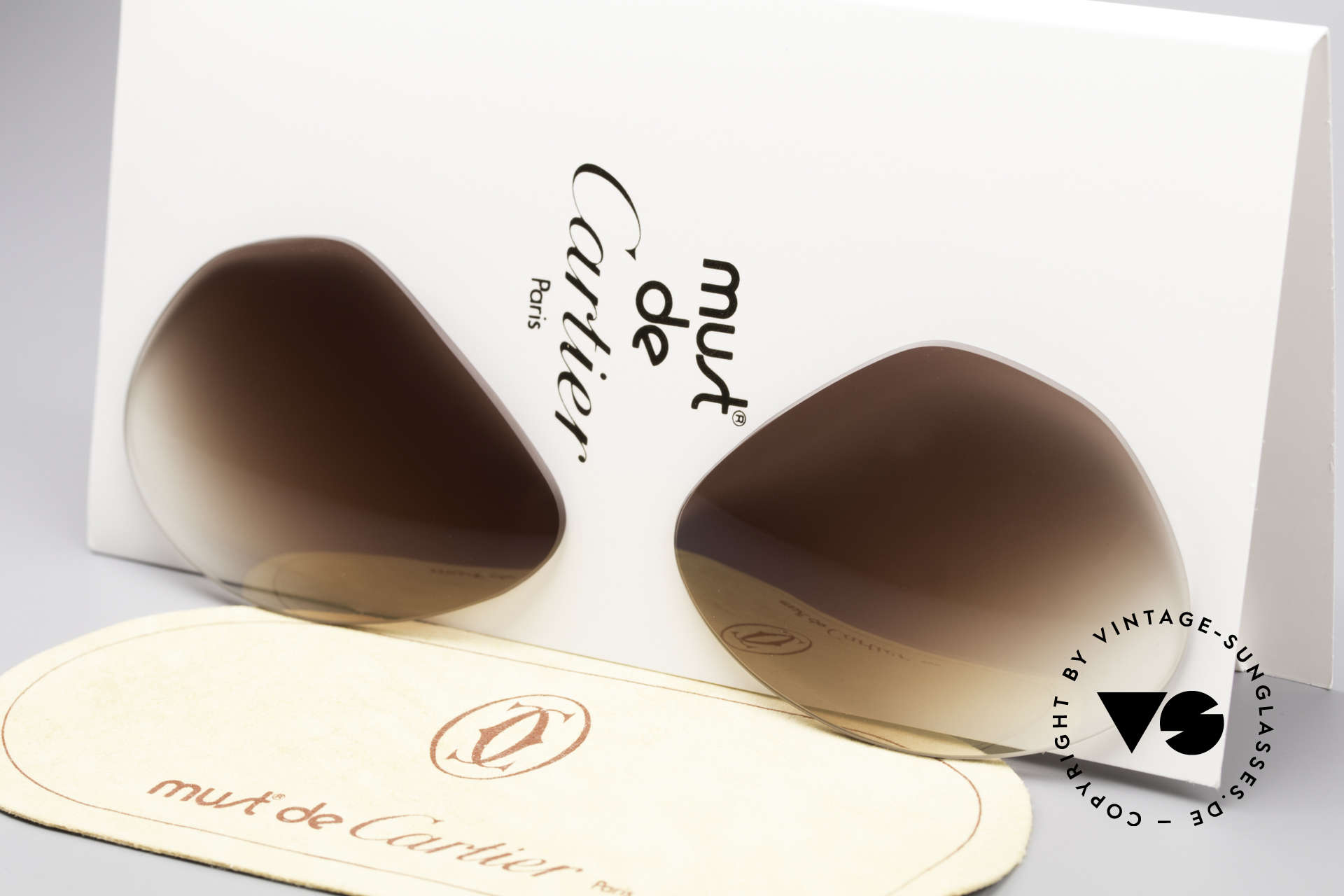 cba95fdca06 Sunglasses Cartier Vendome Lenses - L Brown Gradient Sun Lenses ...