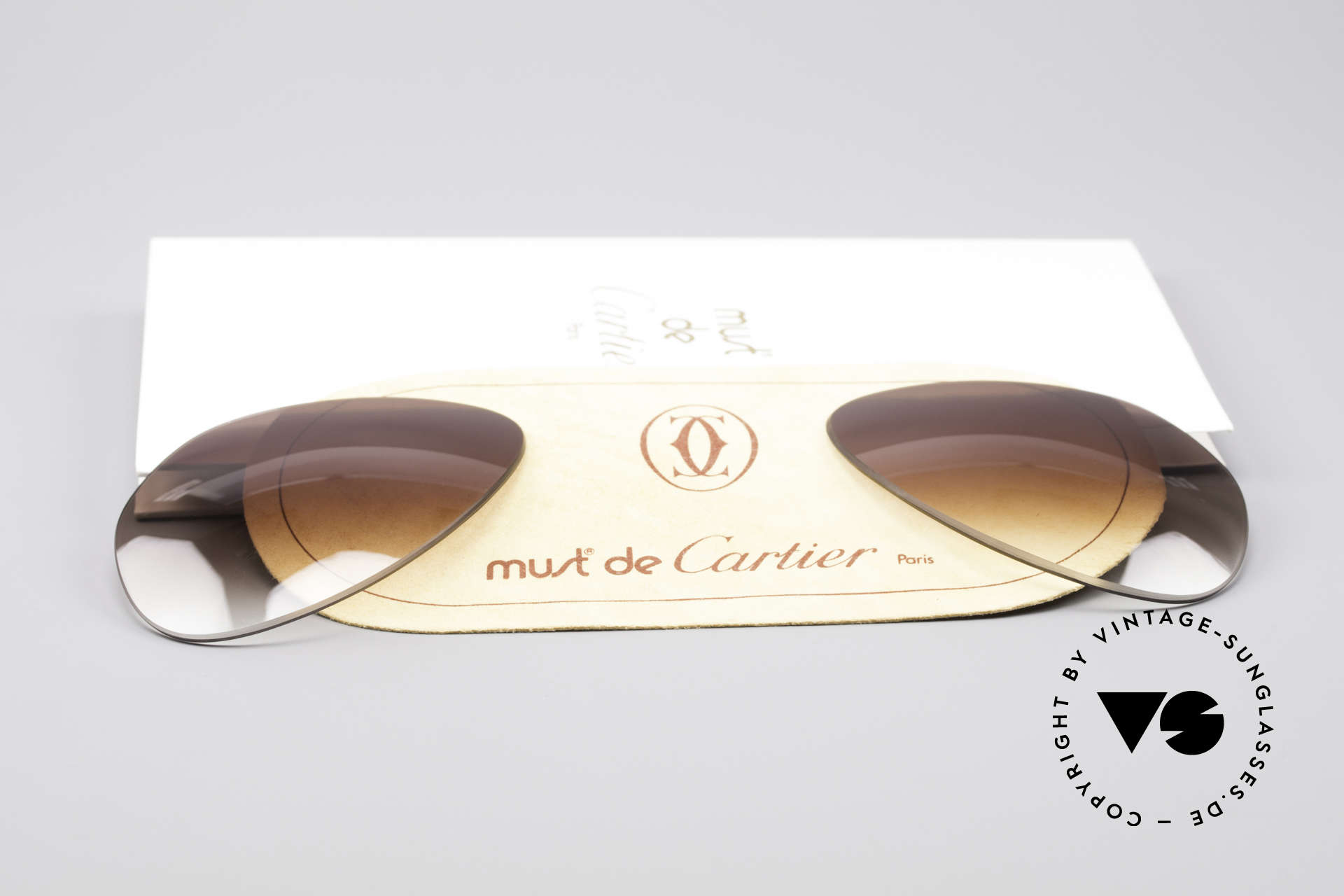 Cartier Vendome Lenses - L Brown Gradient Sun Lenses, made by our optician (thus, brand-new and scratch-free), Made for Men