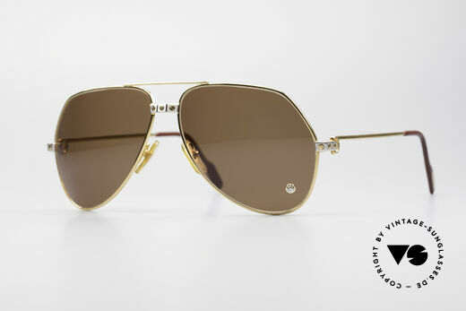 Cartier Vendome Santos - L Crystal Luxury Sunglasses Details