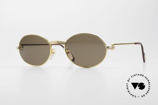 Cartier Saint Honore Luxury Sunglasses Oval Details