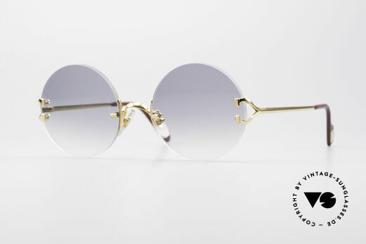 7d3320d24e Cartier Madison Round Rimless Sunglasses Details