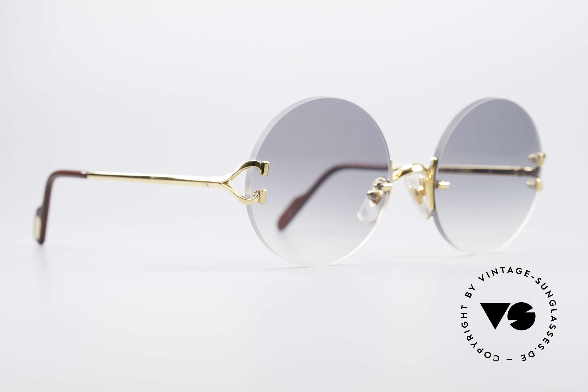 Cartier Madison Round Rimless Sunglasses, unworn with new sun lenses & CARTIER leather case, Made for Men and Women