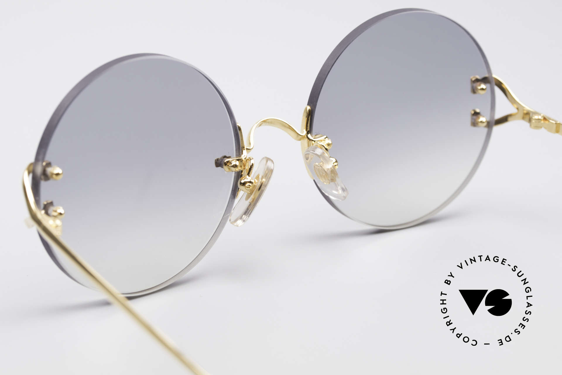 Cartier Madison Round Rimless Sunglasses, NO retro sunglasses, but a rare old Cartier ORIGINAL, Made for Men and Women