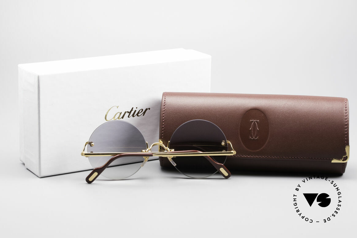 Cartier Madison Round Rimless Sunglasses
