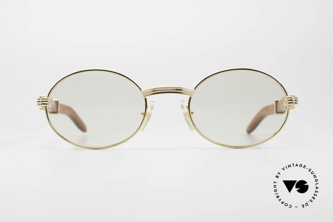 Cartier Giverny Oval Wood Sunglasses