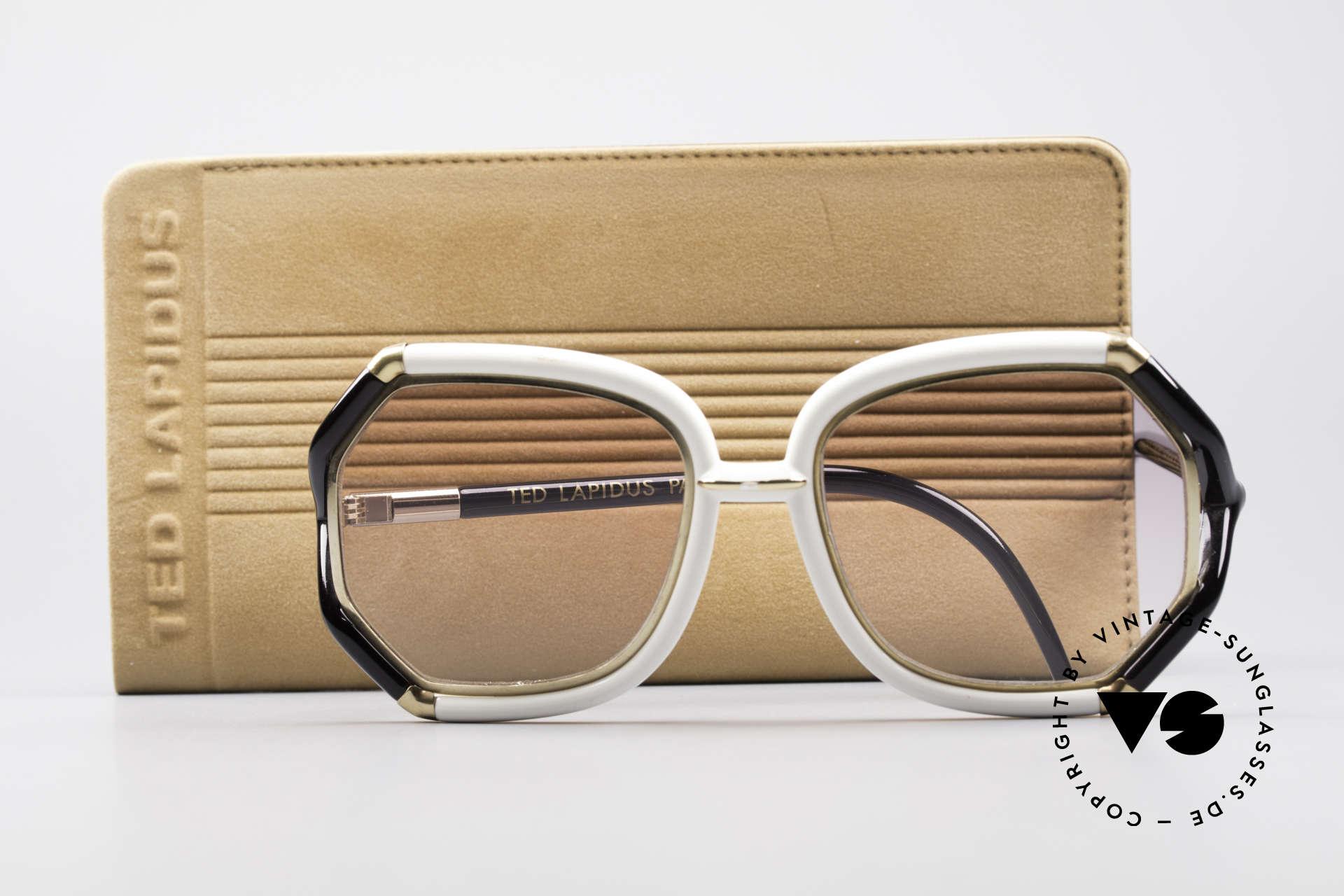 Ted Lapidus B02 70's Designer Sunglasses, NO retro oversize design, but a 40 years old original, Made for Women