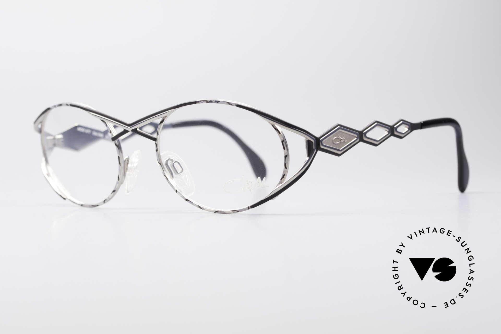 Cazal 977 Vintage 90s Eyeglasses Ladies, glamorous design elements; an elegance full of verve, Made for Women