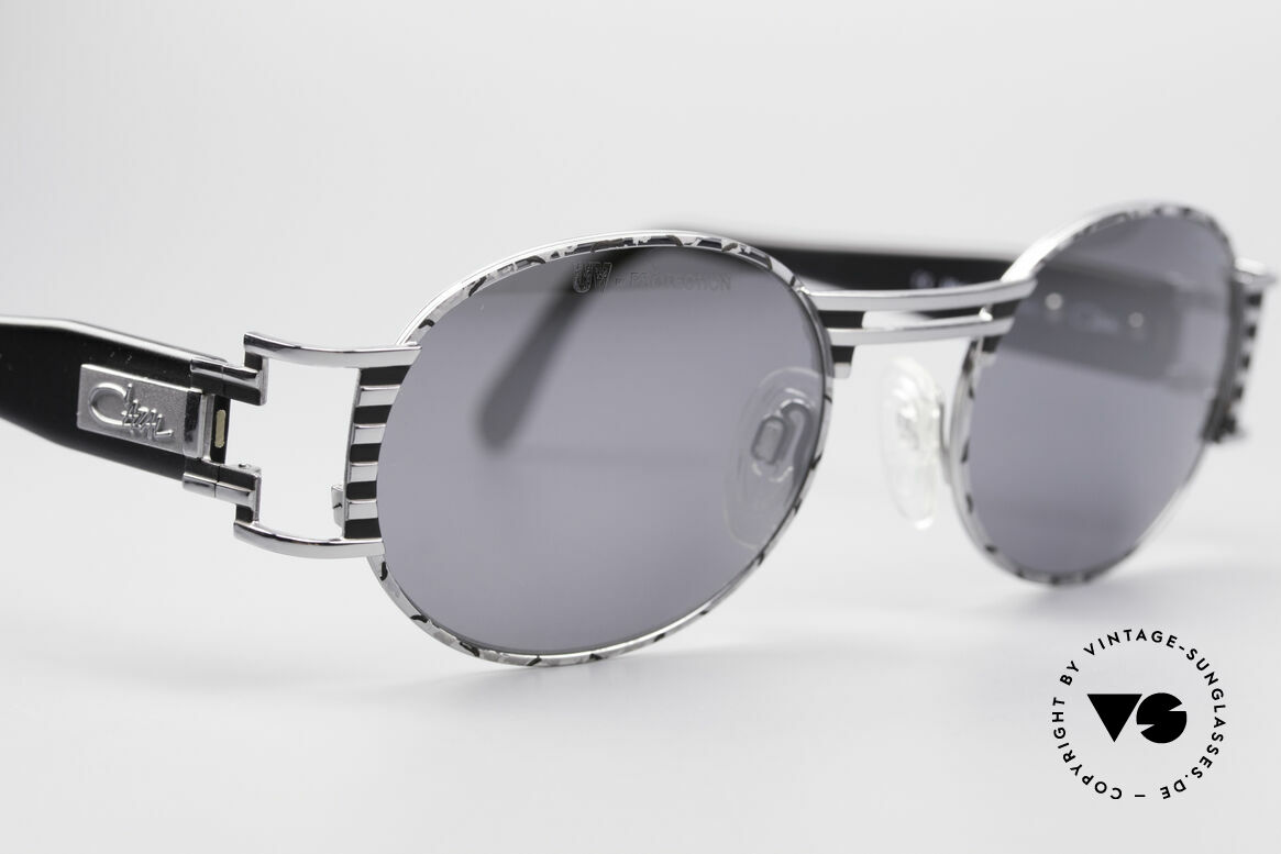 Cazal 976 Vintage Shades Oval Mirrored, great combination of materials, colors and design, Made for Men and Women