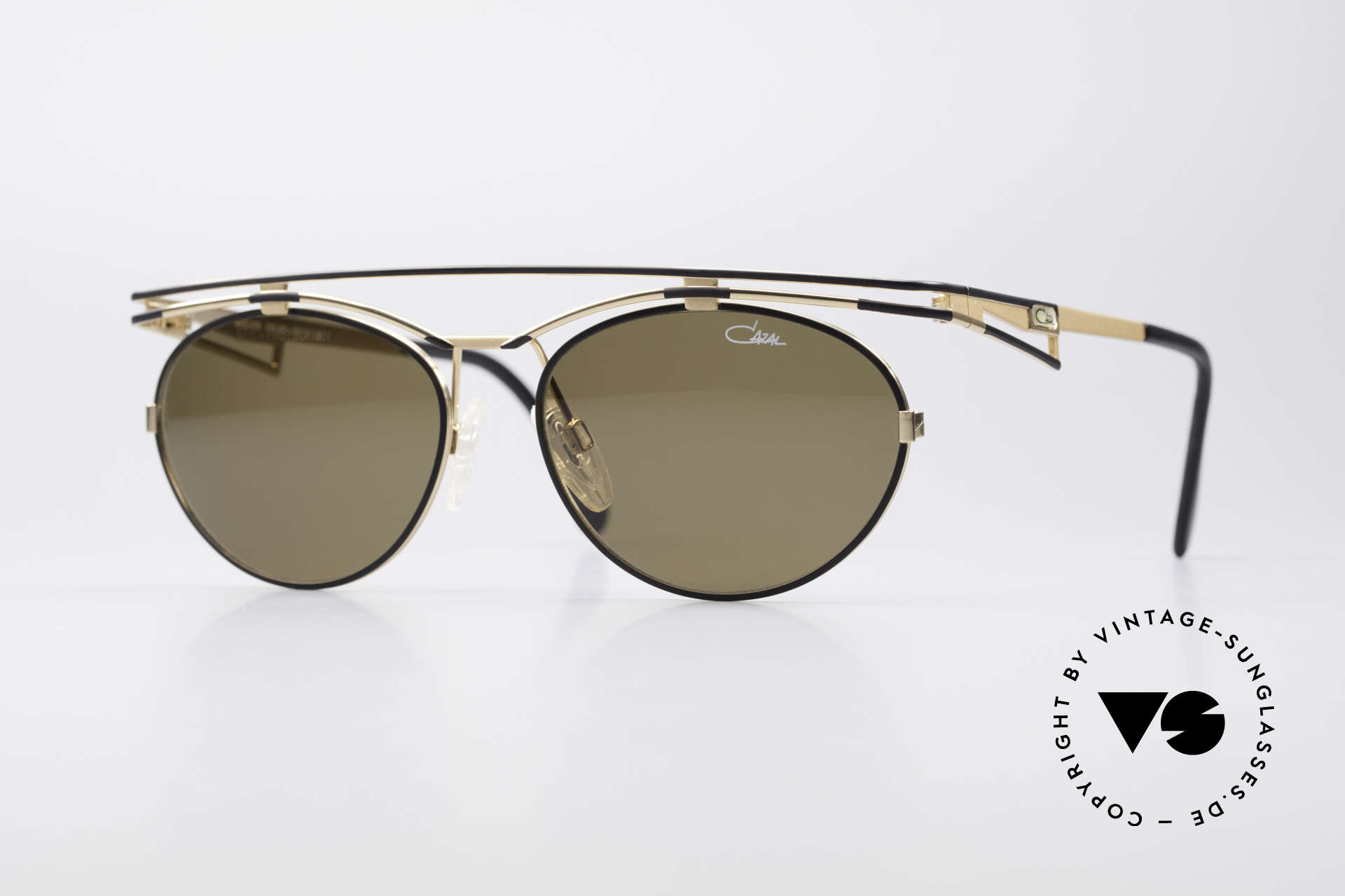 Cazal 970 Extraordinary 90's Shades, trendy cult designer sunglasses by CAZAL from 1997, Made for Women