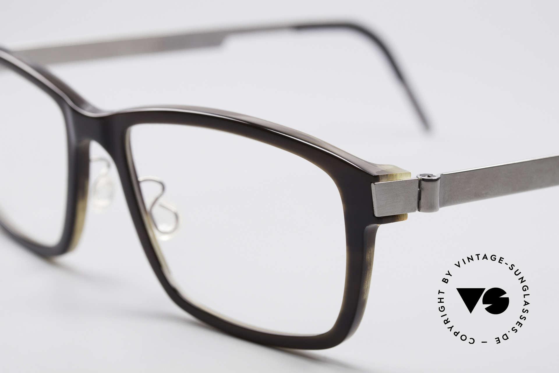 1e27d9d6926 Glasses Lindberg 1802 Horn Genuine Horn Titanium Frame