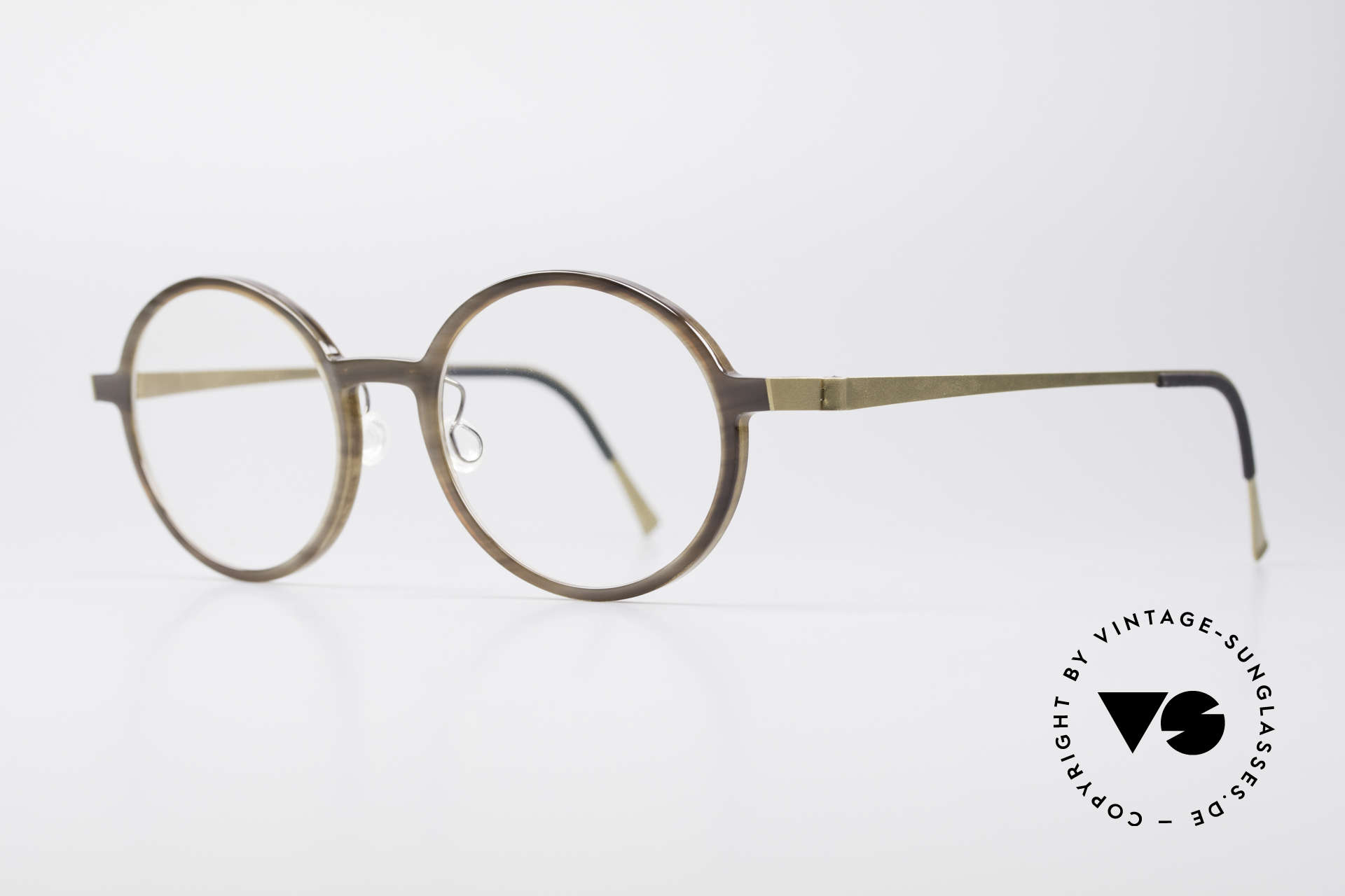 e64eac10a7e Lindberg 1827 Horn Round Horn Eyeglasses. Here you can find the ...