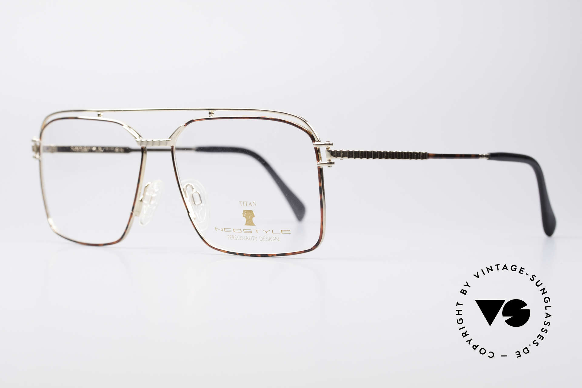 Neostyle Dynasty 424 - XL 80's Titanium Men's Frame, comes with original case and cloth by Neostyle, Made for Men