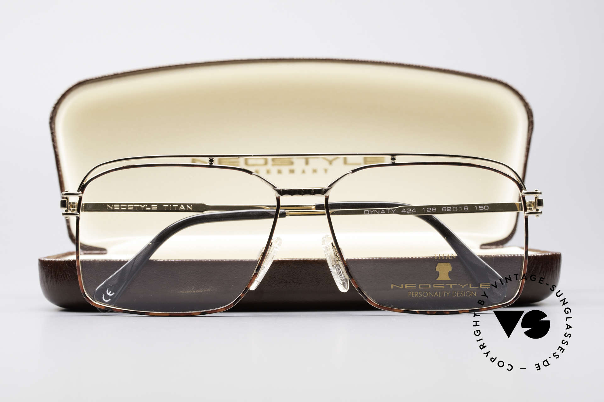 Neostyle Dynasty 424 - XL 80's Titanium Men's Frame, NO RETRO glasses, just a stylish old ORIGINAL, Made for Men