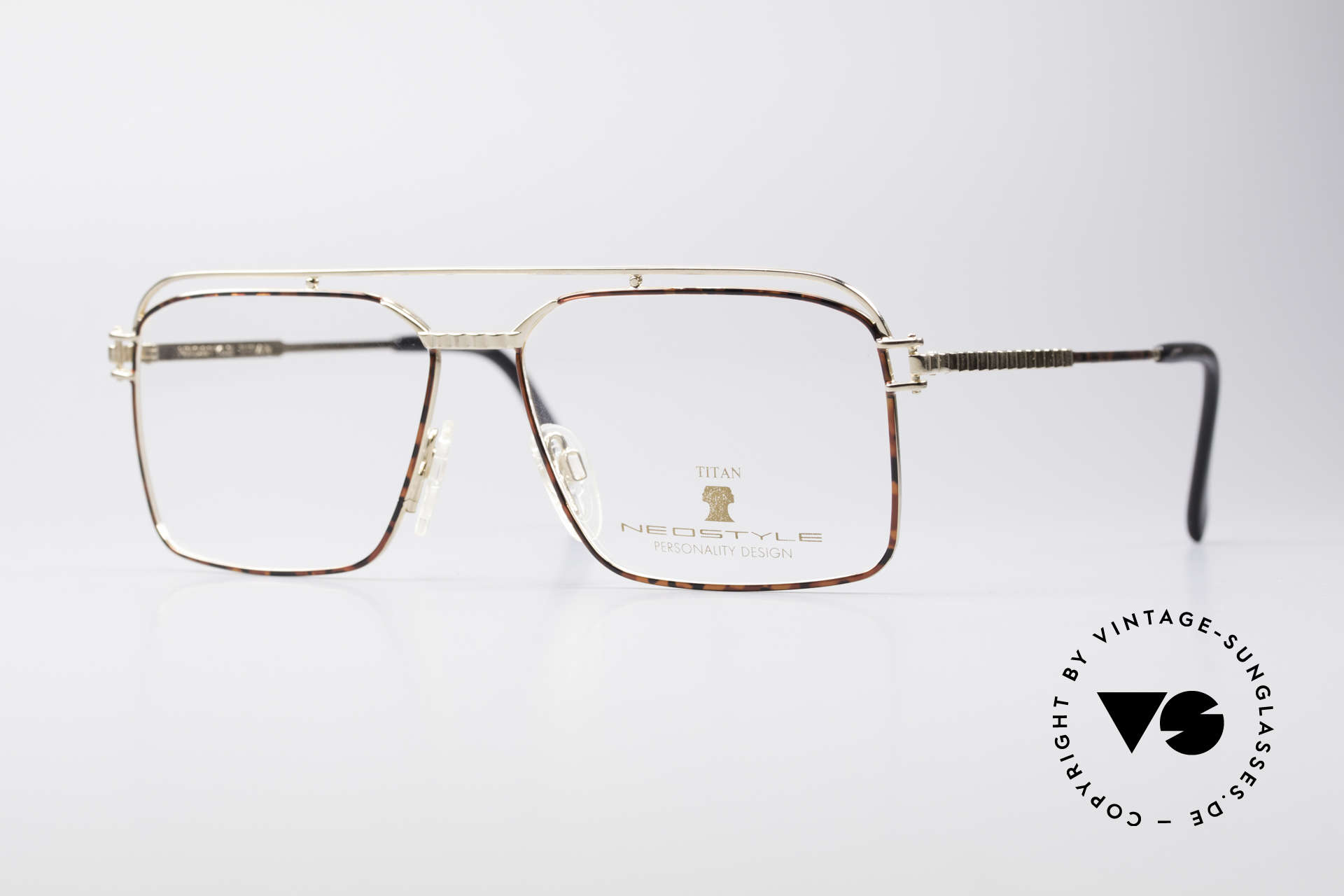 Neostyle Dynasty 424 - L 80's Titanium Men's Frame, striking men's glasses by Neostyle; LARGE size, Made for Men