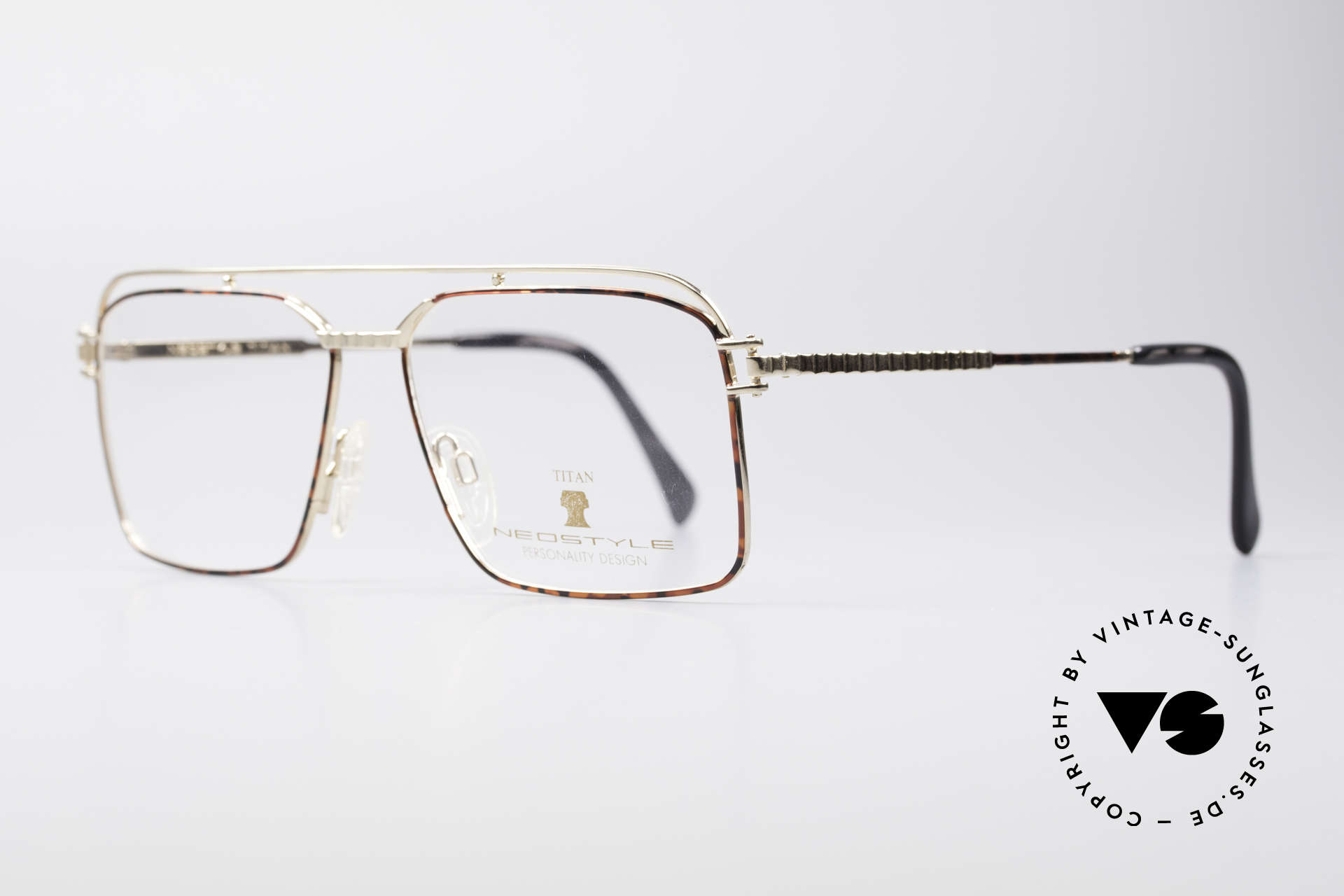 Neostyle Dynasty 424 - L 80's Titanium Men's Frame, comes with original case and cloth by Neostyle, Made for Men
