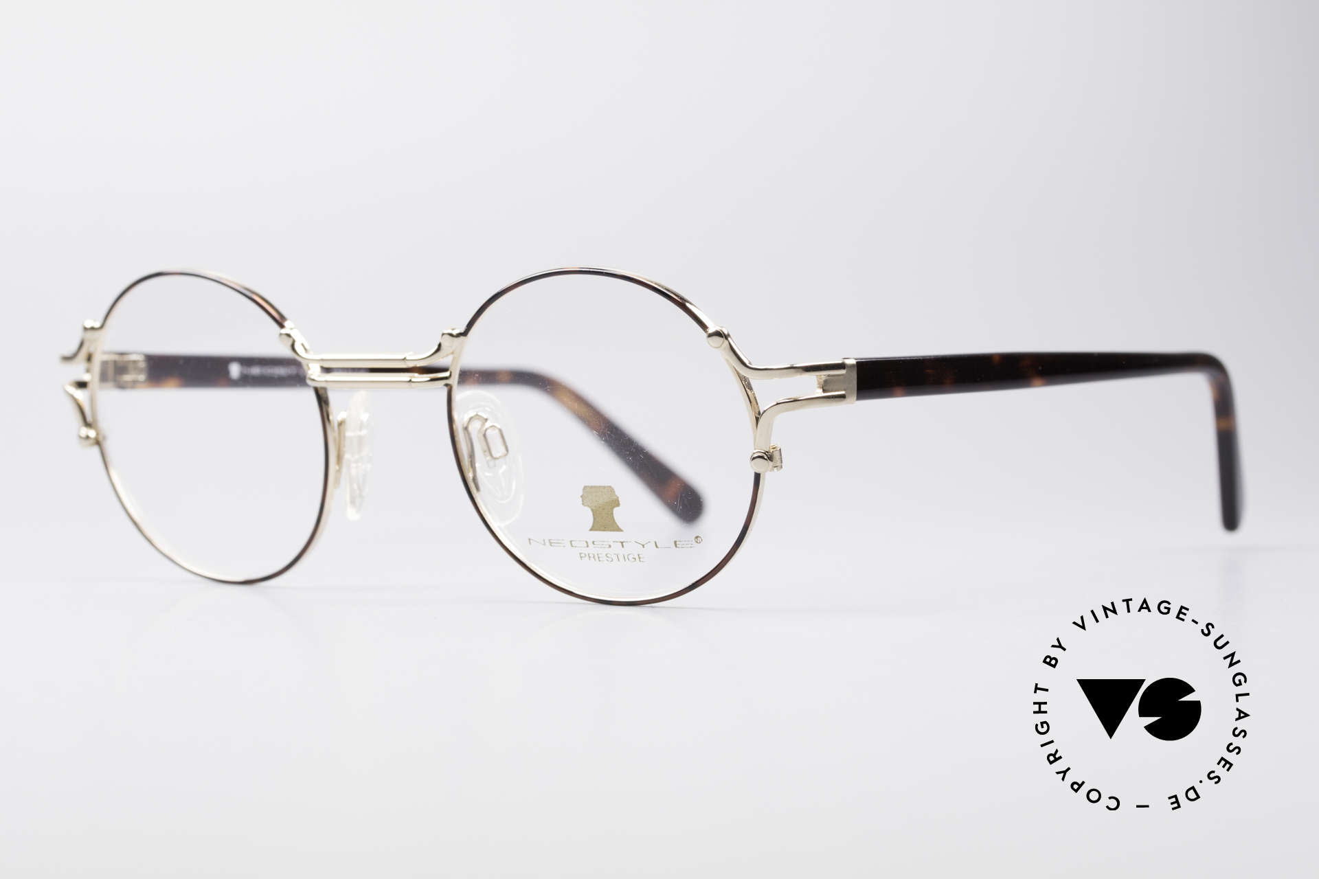 Neostyle Academic 8 Round Vintage Glasses 80's, truly high-end craftsmanship, made in Germany, Made for Men and Women