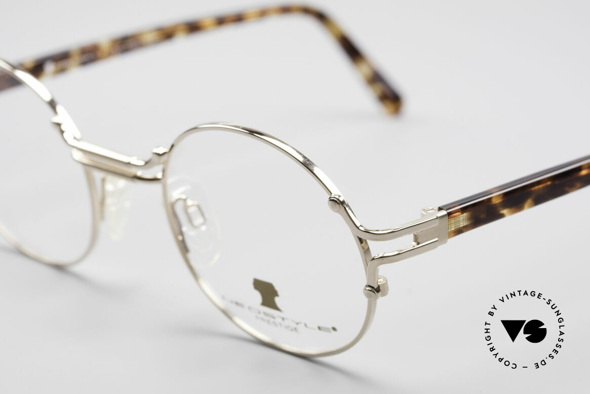 Neostyle Academic 8 Round Vintage Eyeglasses, elegant frame coloring and with orig. packing, Made for Men and Women