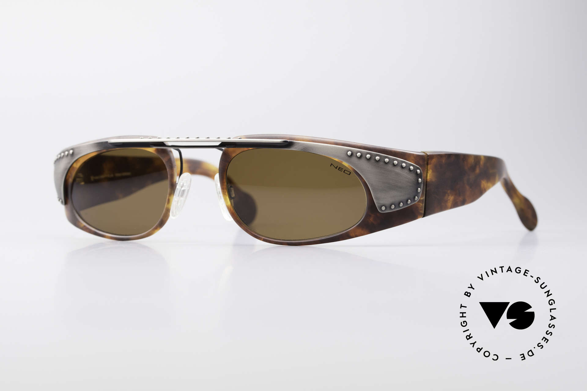 Neostyle Holiday 2002 Vintage Steampunk Sunglasses, extraordinary NEOSTYLE sunglasses from the 90's, Made for Men