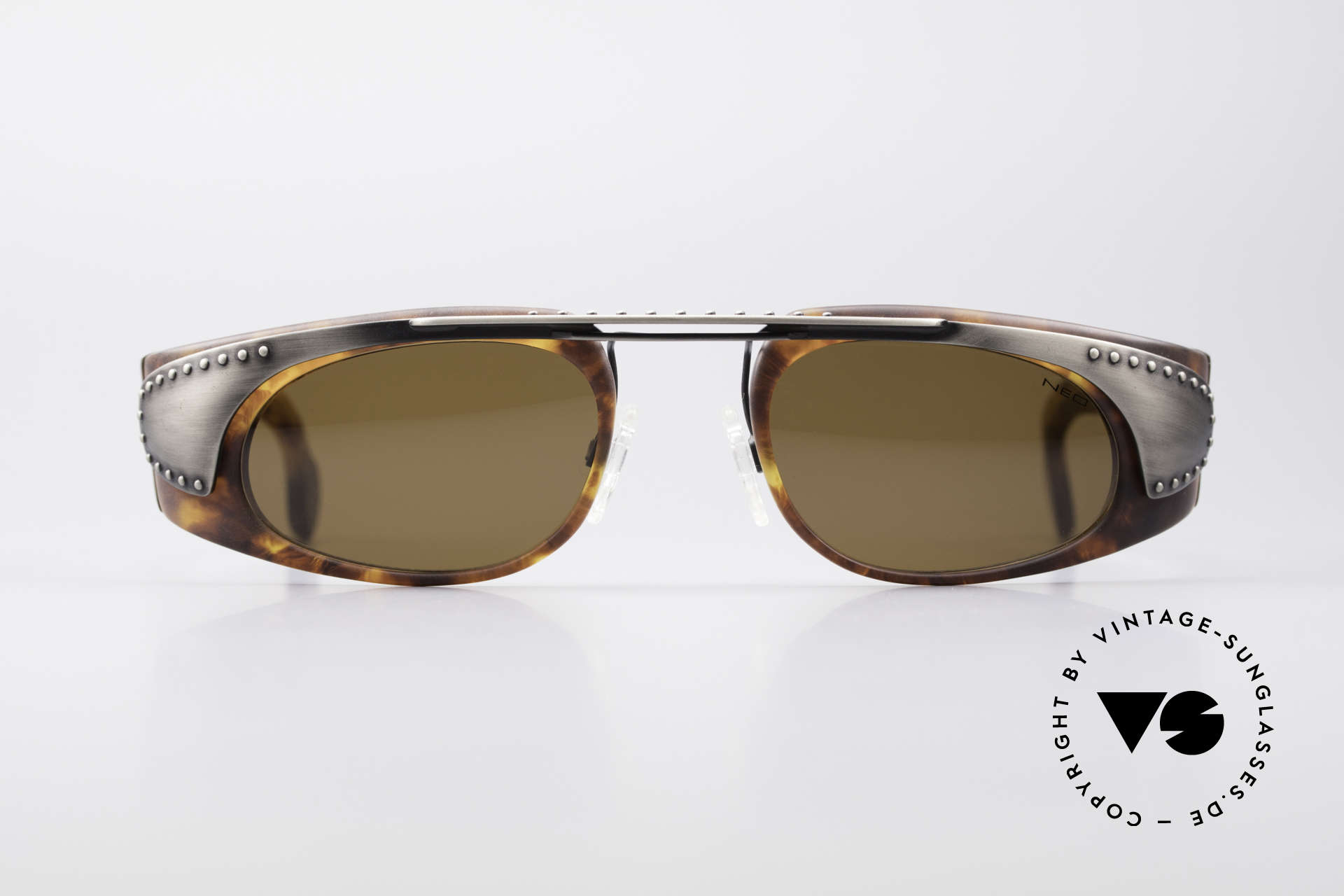 Neostyle Holiday 2002 Vintage Steampunk Sunglasses, spectacular frame construction (Industrial Style), Made for Men