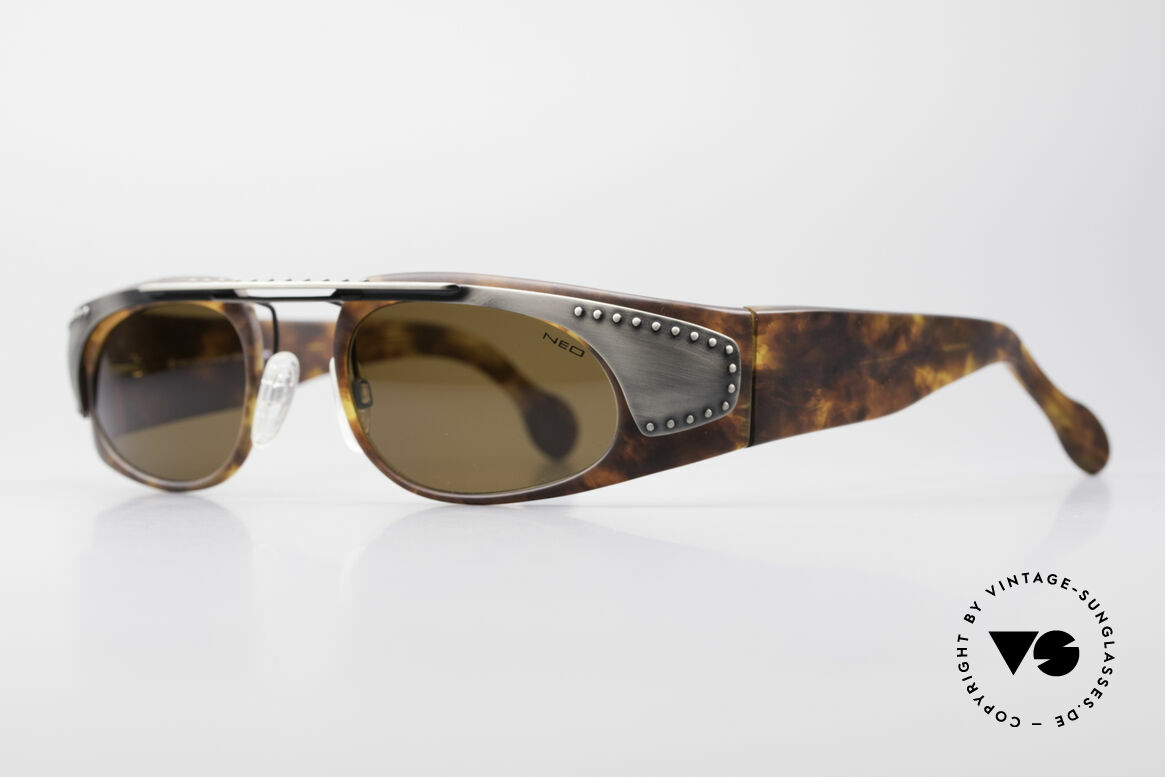 """Neostyle Holiday 2002 Vintage Steampunk Sunglasses, often called as """"STEAMPUNK glasses"""" these days, Made for Men"""