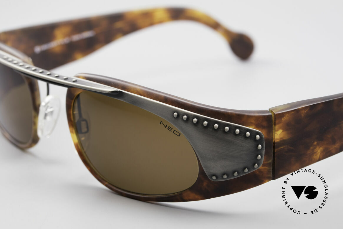 Neostyle Holiday 2002 Vintage Steampunk Sunglasses, frame can be glazed with optical lenses optionally, Made for Men