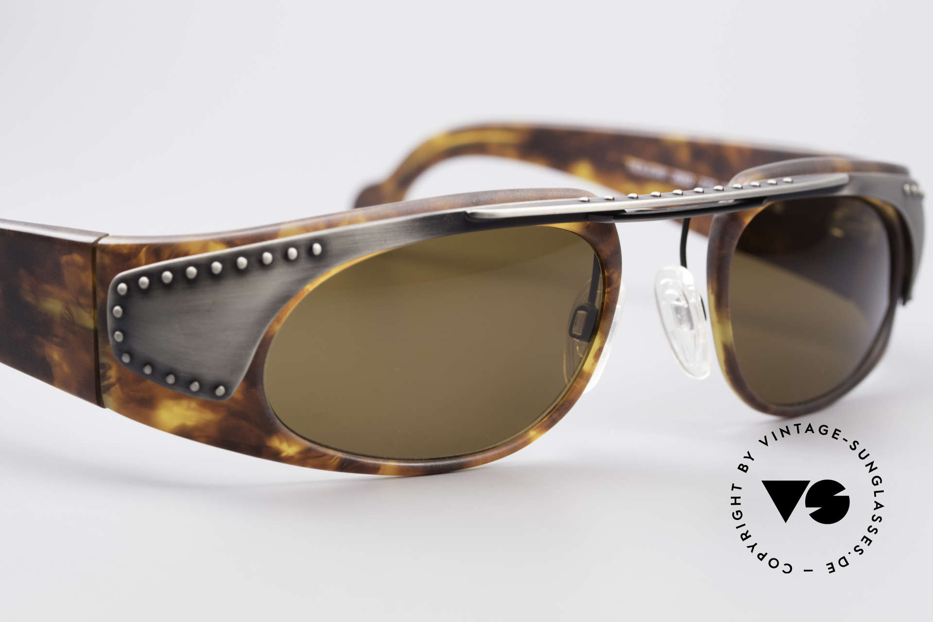 Neostyle Holiday 2002 Vintage Steampunk Sunglasses, unworn (like all our old 90's designer sunglasses), Made for Men