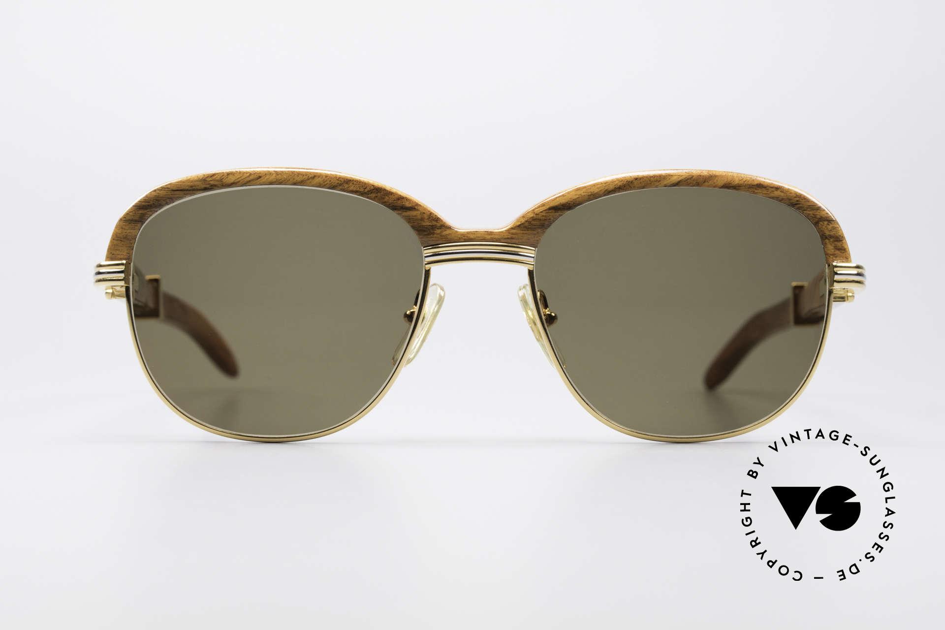 bd6d5024abcd Sunglasses Cartier Malmaison Bubinga Precious Wood Frame