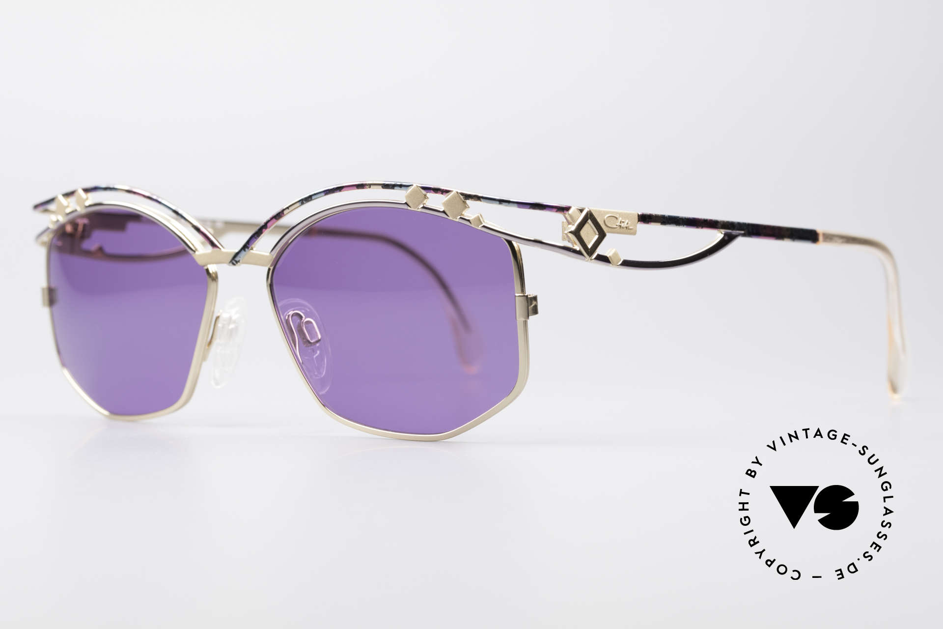 Cazal 280 90s Designer Sunglasses Ladies, true eye-catcher & high-end quality (frame Germany), Made for Women