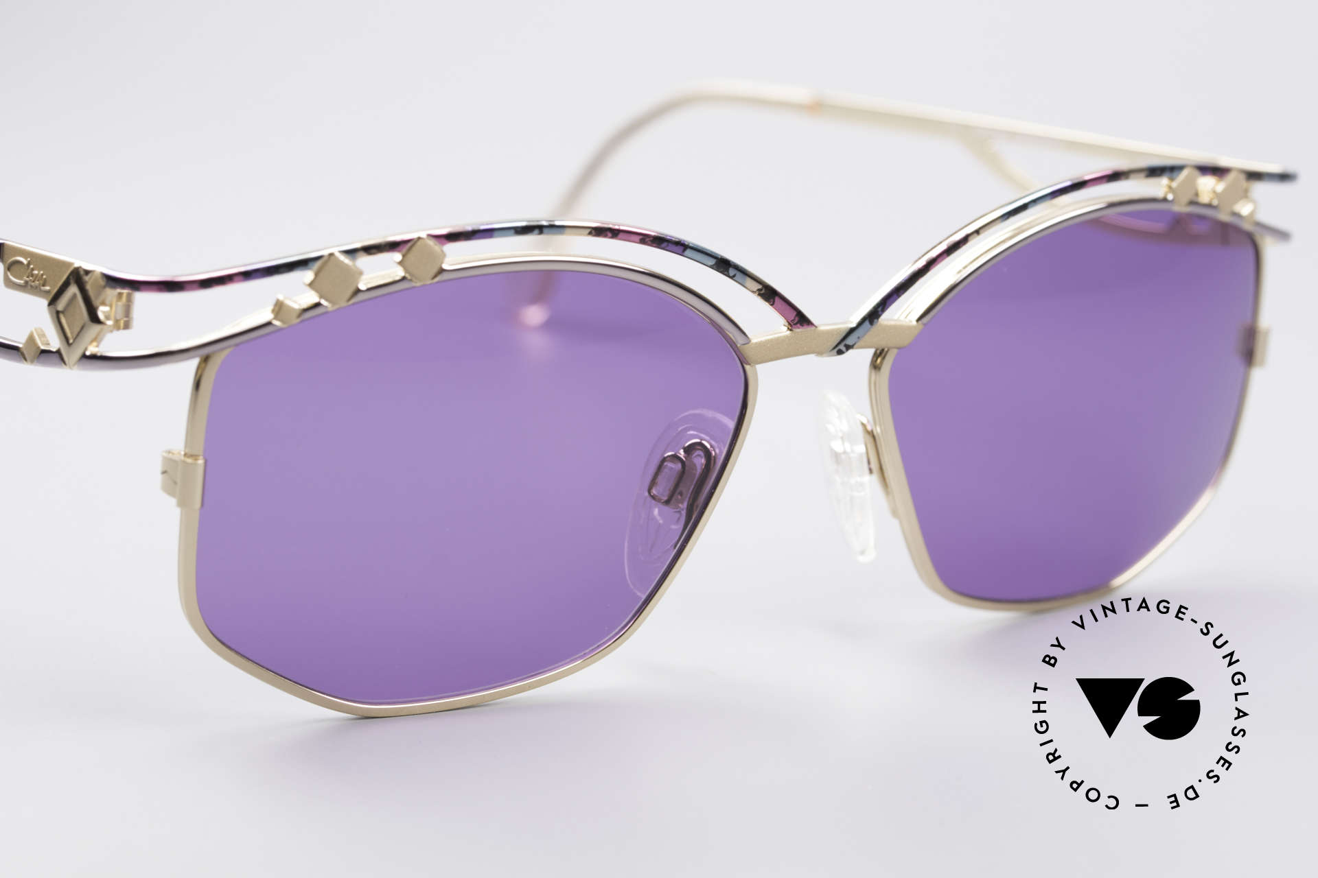 Cazal 280 90s Designer Sunglasses Ladies, purple sun lenses could be replaced with prescriptions, Made for Women