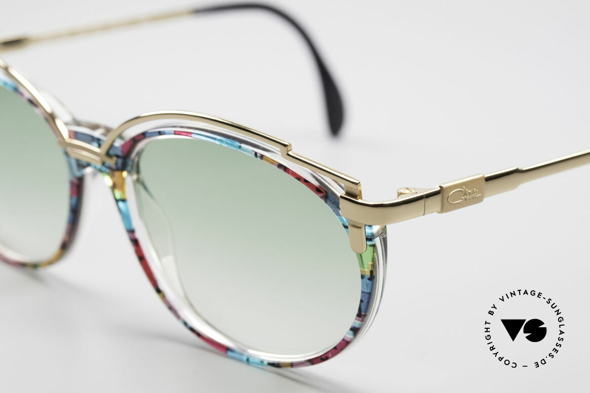 Cazal 358 No Retro True Vintage Shades, CAZAL called the pattern: petrol-ruby multicolor / gold, Made for Women