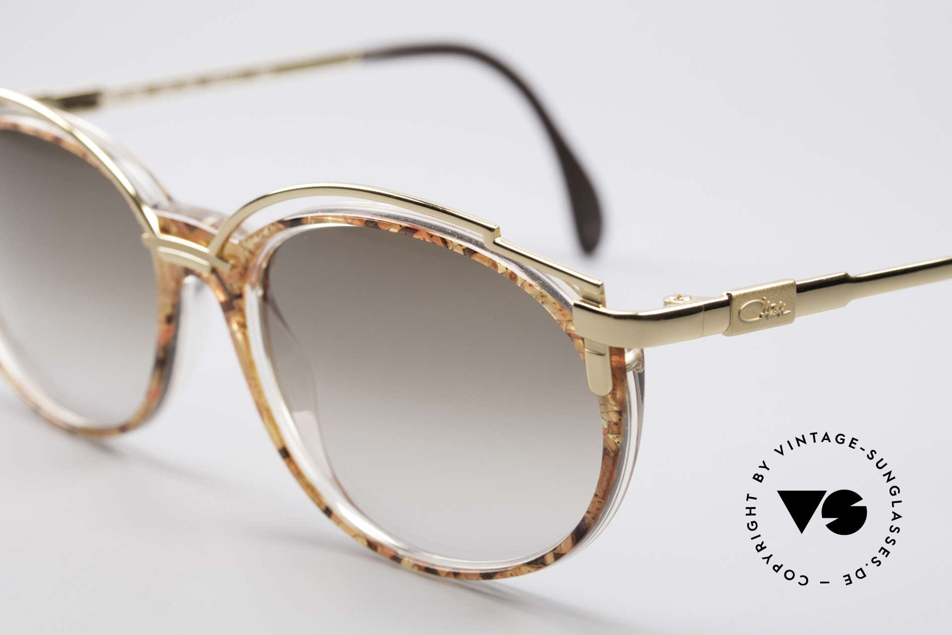 """Cazal 358 90's Ladies Sunglasses Vintage, CAZAL called the terrific pattern: """"copper-gold mosaic"""", Made for Women"""