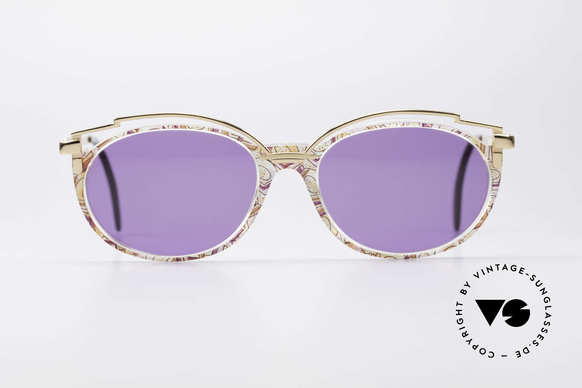 Cazal 358 Rare 90's Vintage Sunglasses, delightful metal ornamentation above the plastic frame, Made for Women
