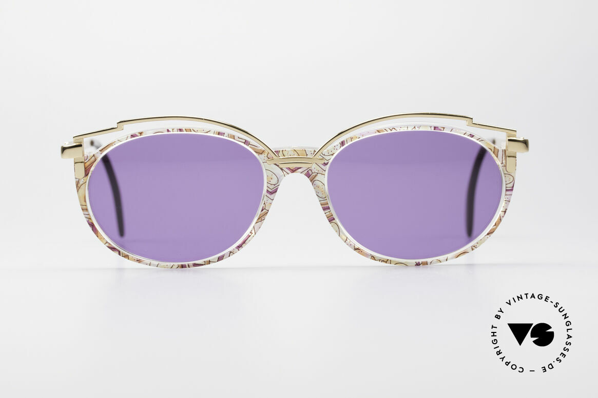 Cazal 358 Rare 90's Vintage Sunglasses, delightful metal ornamentation above the plastic frame, Made for Women