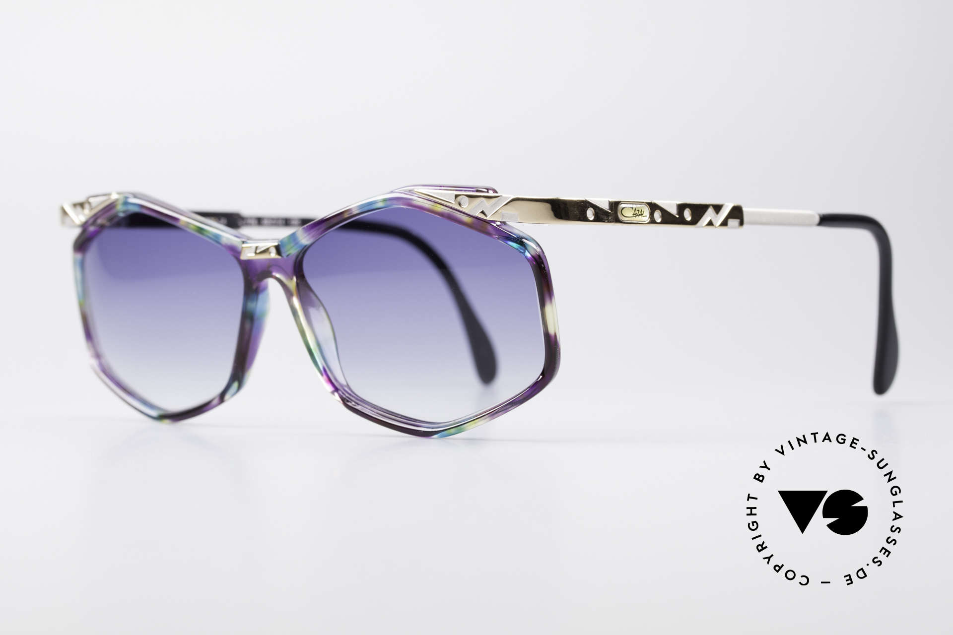 Cazal 354 Vintage Designer Sunglasses, fancy design & colorful paintwork (typically 1990's), Made for Women