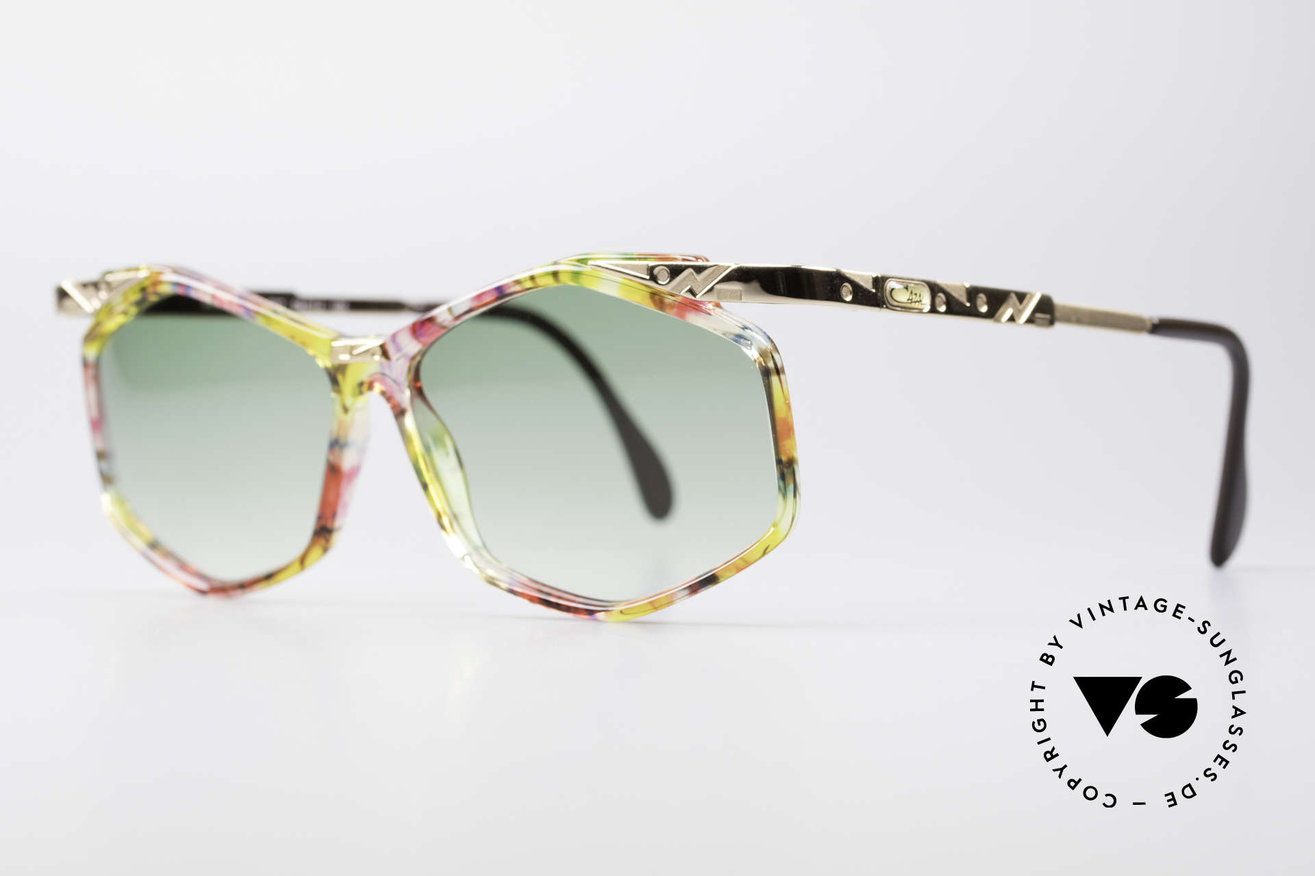 Cazal 354 Vintage 90s Sunglasses Women, fancy design & colorful paintwork (typically 1990's), Made for Women