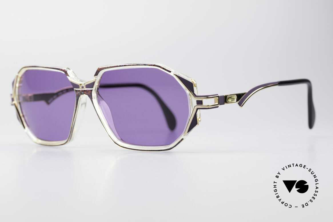 Cazal 361 Original 90's Sunglasses, glamorous combination of materials & colors; just fancy, Made for Women