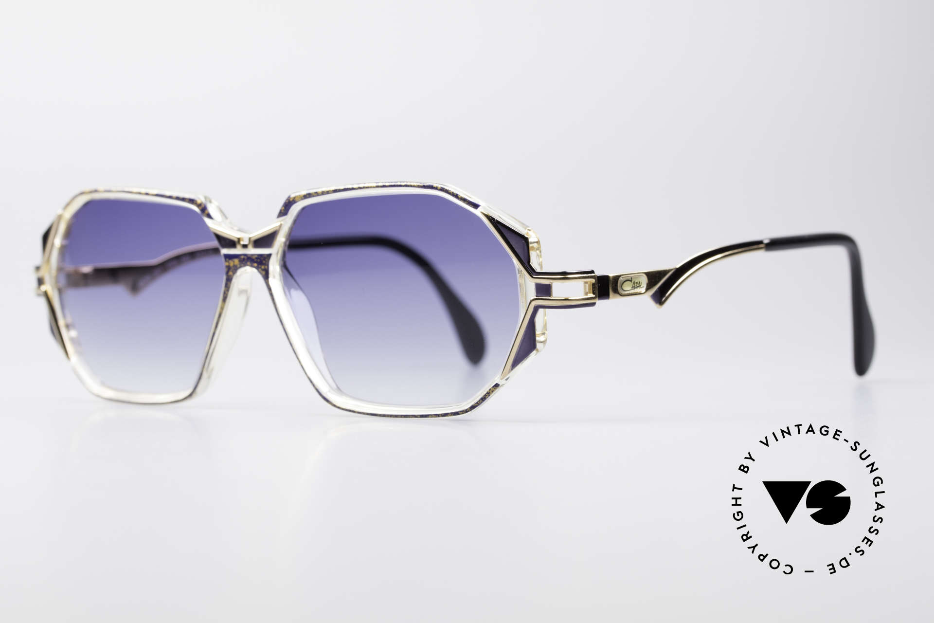 Cazal 361 Designer Sunglasses No Retro, glamorous combination of materials & colors; just fancy, Made for Women