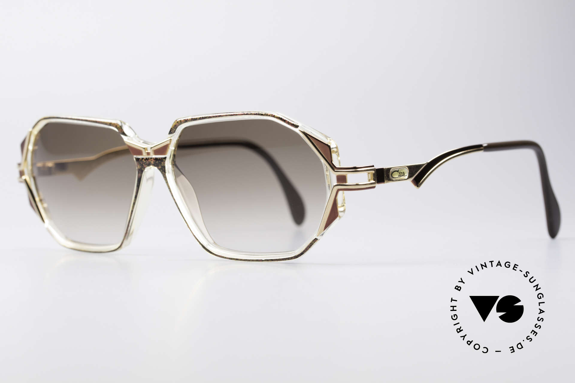 Cazal 361 Original Designer Sunglasses, glamorous combination of materials & colors; just fancy, Made for Women