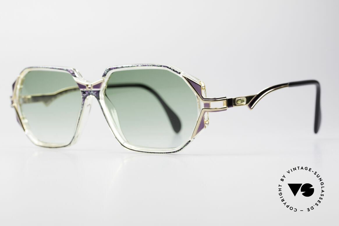 Cazal 361 Original Ladies 90s Sunglasses, glamorous combination of materials & colors; just fancy!, Made for Women