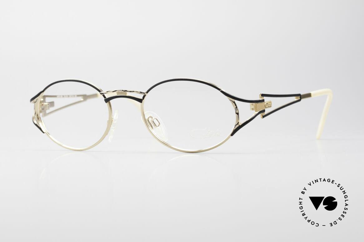 Cazal 285 Oval Round Vintage Glasses, filigree eyeglass-frame by CaZal (Cari Zalloni), Made for Women