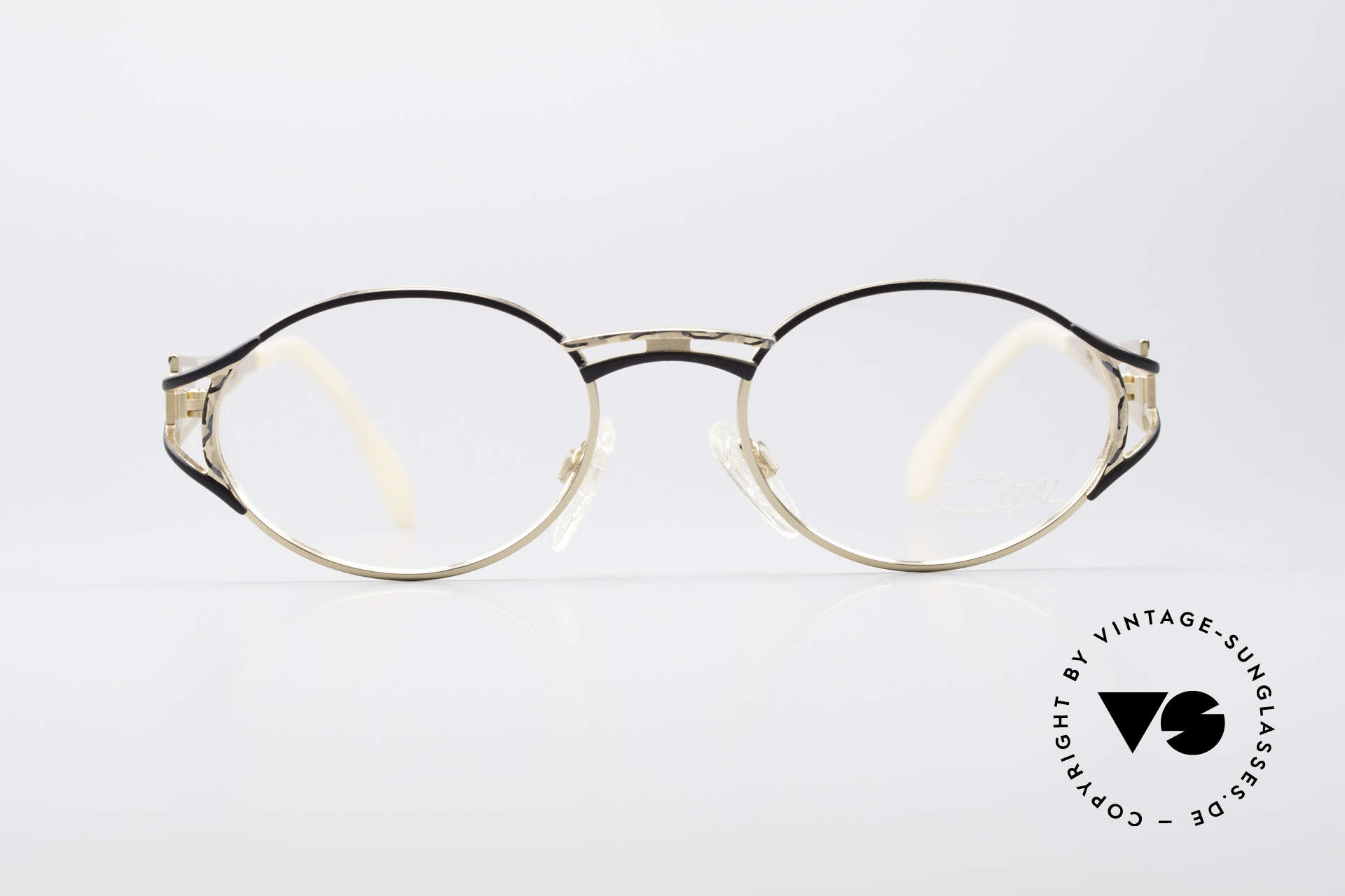 Cazal 285 Oval Round Vintage Glasses, delicate design full of verve and in top quality, Made for Women