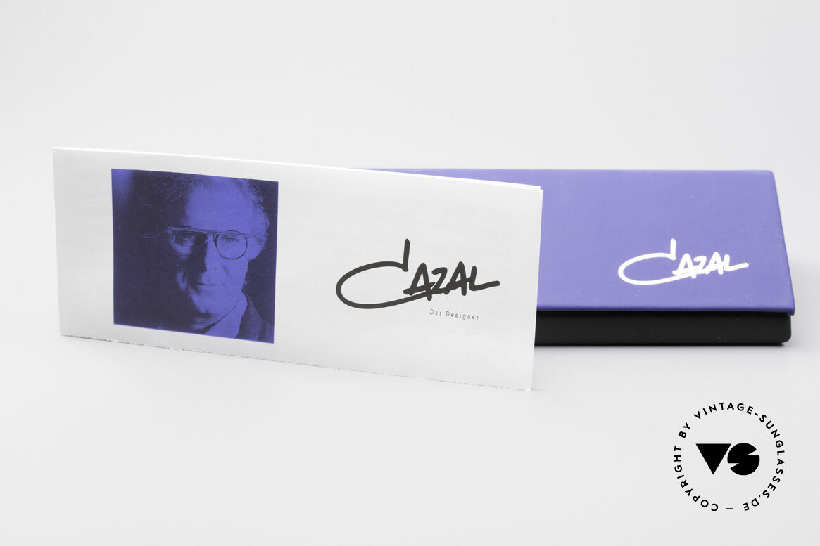 Cazal 368 90's Hip Hop Old School Shades, blue-gradient lenses can be replaced with optical lenses, Made for Women