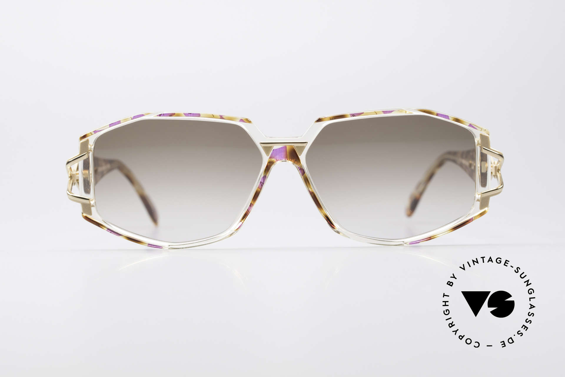 Cazal 368 Designer Shades Hip Hop Style, exciting design on the hinges of the arms; just unique, Made for Women